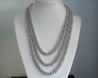 Triple Strand Byzantine Necklace