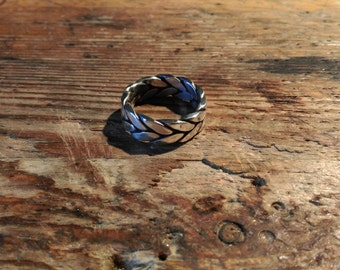 Braided Viking ring silver medieval Celtic