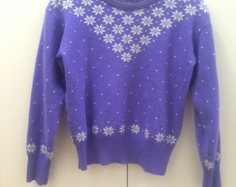Purple snowflake sweater