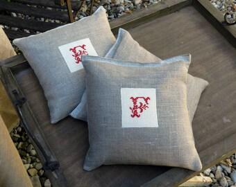Lavender hand embroidered bag