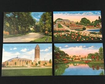 Fort Worth Texas Vintage Postcard Pack, Four Blank 1950s Postcards
