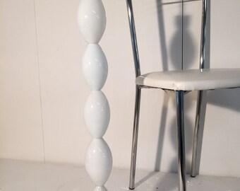 Table lamp in white murano glass