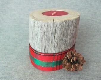 Oak Driftwood Tea Light Candle Holder