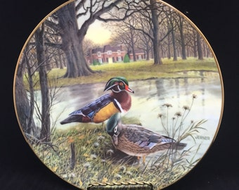 """1987 Bart Jerner Collector Plate """"The Wood Duck"""""""