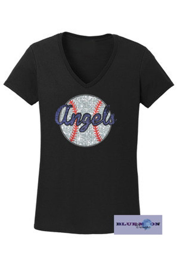 Angels Major League Baseball Rhinestone T-Shirt Made to order