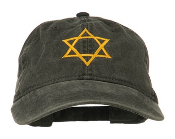 Star of David Embroidered Washed Dyed Cap