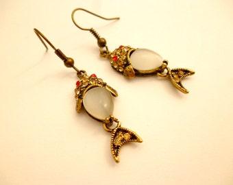 Steampunk Earrings Fish_EA0012587_Steampunk Accessories_Ear_Fish_Steampunk Gift Ideas