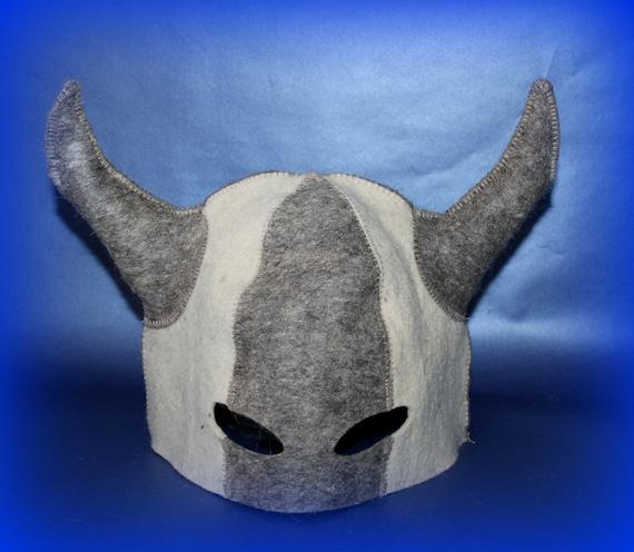 New hand Felted Wool HAT SAUNA Viking helmet Easter Gift Ukrainian warrior Berserk Bath Care SPA