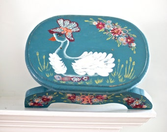 Mother Goose Hand Painted Stool