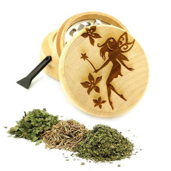Fairy Engraved Premium Natural Wooden Grinder Item # PW61716-31