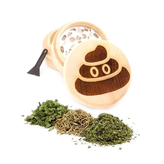 Poop Engraved Premium Natural Wooden Grinder Item # PW91316-23