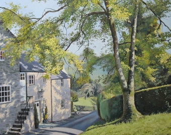 Wintercroft Lane - signed limited edition print, wall art, home decor, oil painting, landscape, realistic art