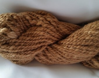 Alpaca Huacaya Handspun Yarn - Sandy
