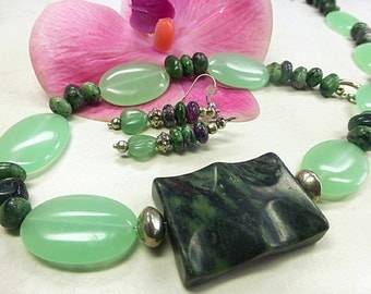 Charming Aventurine set in great format