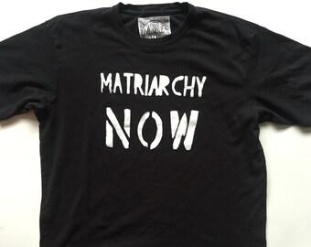 Matriarchy Now T-Shirt Women's XL, Black