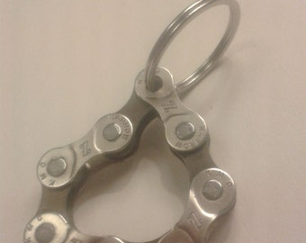 Bike chain key ring - Kmc Z silver/brown