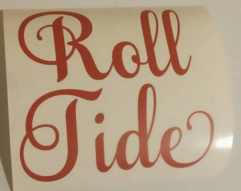 Roll Tide Wall Decal//Alabama//Wall Sticker//Vinyl Wall Decal