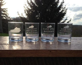 Set of Etched Specialty Glasses!