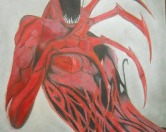 9x12 in. Carnage sketch