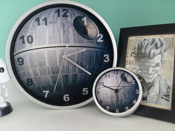 Star Wars Death Star Darth Vader Wall Clock By Designglobal