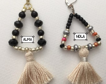 Nola earring and Alma earring