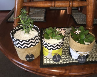 Hand made Plant holders and pouches