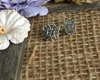 Black Flower Stud Earrings