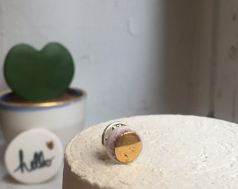 Pin badges in porcelain-jewelry handmade - clean - made in France