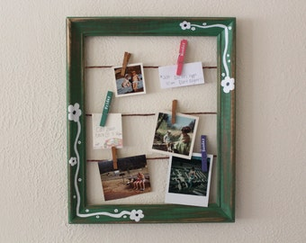 Rustic Green Frame/Noteboard