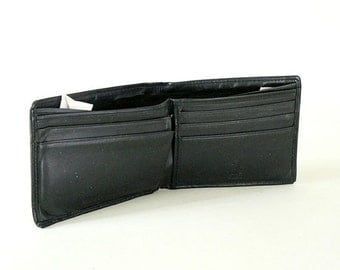 Guess Black Leather Mens Wallet