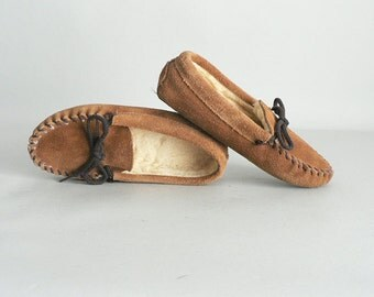 Childs Leather Moccasins Size 1.5
