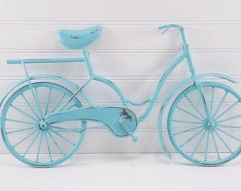 Metal Bicycle / Bicycle Wall Decor / AQUA/ Nursery Wall Decor
