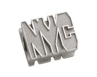 New York City Charm - Fits Pandora Bracelets  - Sterling Silver