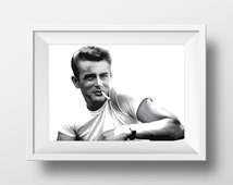 James Dean Minimalist Poster print- Style Icon, Vintage Retro, Rebel Without a Cause, Badboy, Jim Stark