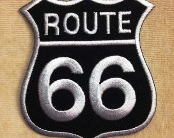 Route 66 patch Applique Embroidery patch sew on patch iron on patches