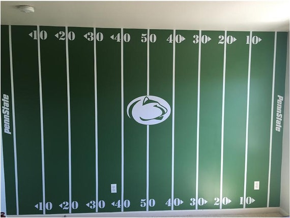 The Personalized Football Field Wall Complete Kit
