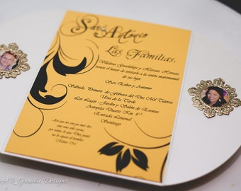 Unique Wedding Invitation With Picture