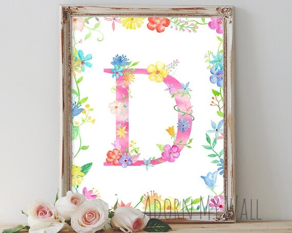 Items similar to letter d monogram wall art d initial for Party wall act letter to neighbour