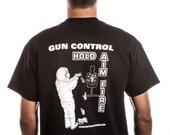 Guncontrol Hold Aim Fire Man Standing T Shirt