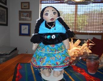 Native American Rag Doll,Felt Doll,Rag Doll