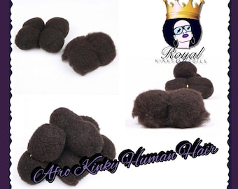 Afro Kinky Human Hair 8 Inch 1B & 4