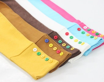 Kids Legging with button accent