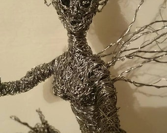 Wire fairy sculpture