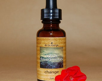 agua flower essence  -  change  :  1oz