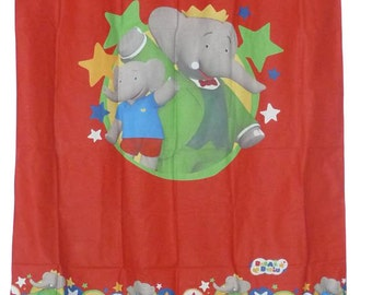 "Child curtain ""BABAR the ELEPHANT"""