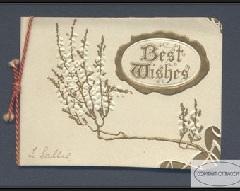 Vintage - Christmas Card - Verse by E.N. - 1900's
