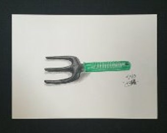 Drawing - Garden Fork