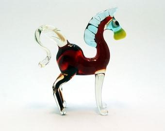 Glass horse art glass home decor glass horse fused glass horse ornament art glass fused glass horse murano glass handmade(273)