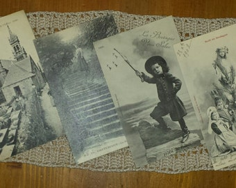 Lot 12 written postcards vintage