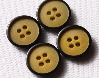 11 buttons 15mm or 20mm Green classic 4-hole nylon (7099)